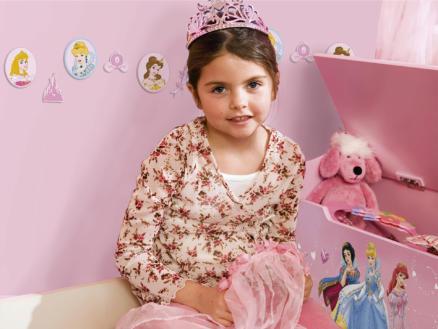 Disney Prinses mini muurstickers foam meerkleurig