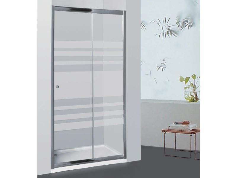 Allibert Priva doucheschuifdeur 116-121x190 cm verstelbaar gelijnd