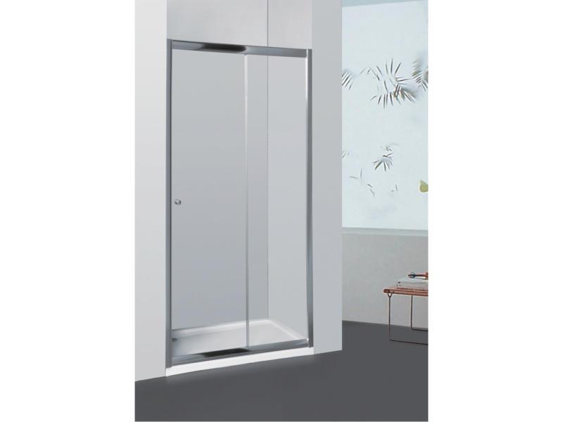 Allibert Priva doucheschuifdeur 116-121x190 cm verstelbaar helder glas