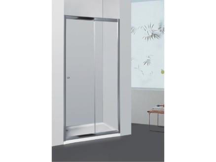 Allibert Priva doucheschuifdeur 126-131x190 cm verstelbaar helder glas