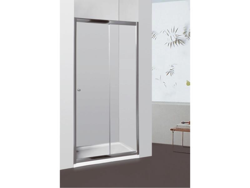 Allibert Priva doucheschuifdeur 136-141x190 cm verstelbaar helder glas