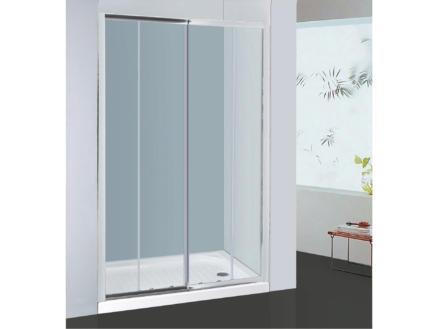 Allibert Priva doucheschuifdeur 156-161x190 cm 2 deuren verstelbaar helder glas