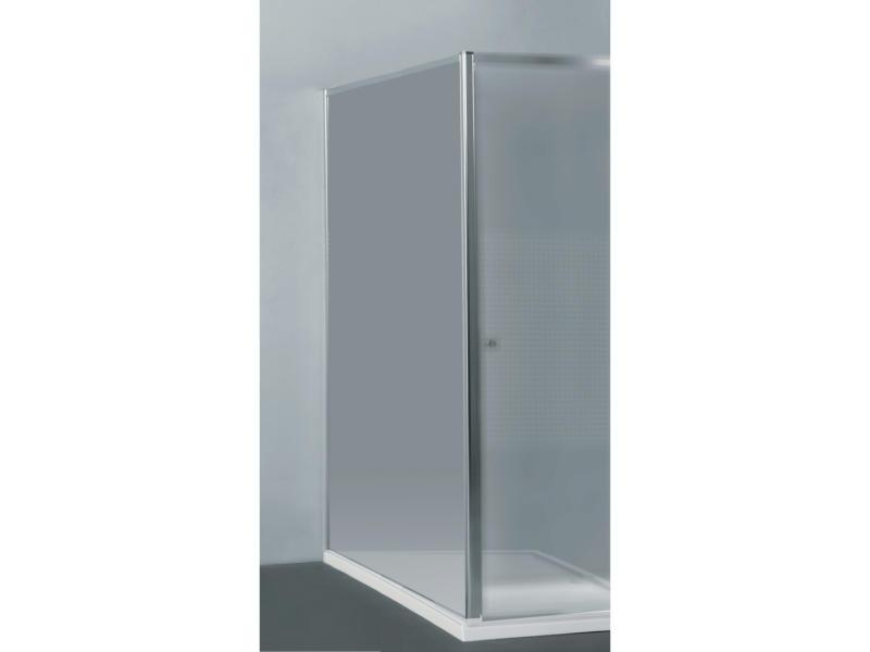 Allibert Priva paroi de douche 80x190 cm universel fixe verre transparent