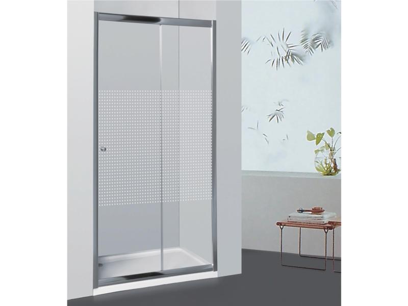 Allibert Priva porte de douche coulissante 126-131x190 cm extensible sérigraphie carrés
