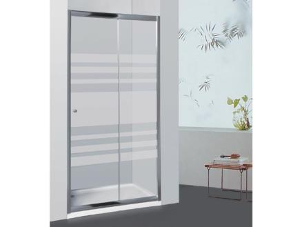 Allibert Priva porte de douche coulissante 126-131x190 cm extensible sérigraphie horizontale