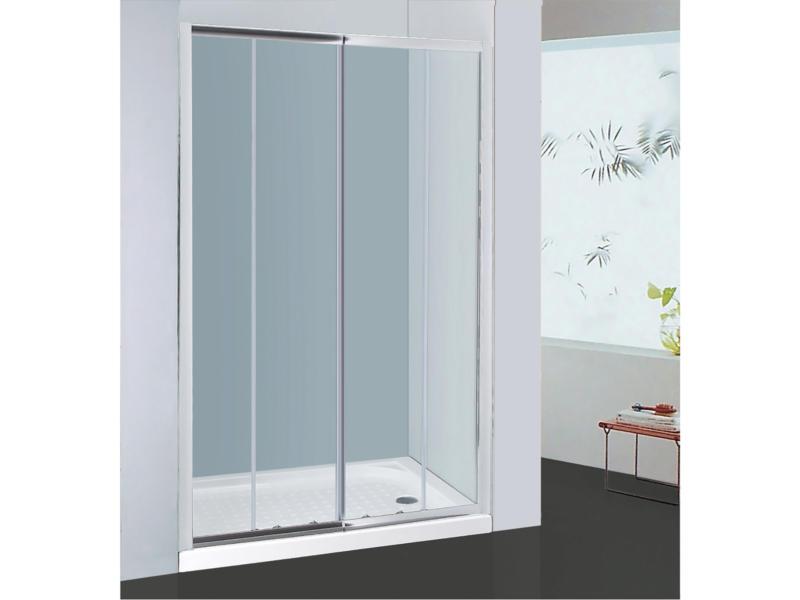 Allibert Priva porte de douche coulissante 156-161x190 cm 2 portes verre transparent