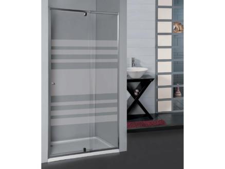 Allibert Priva porte de douche pivotante 68-81x190 cm  extensible sérigraphie horizontale
