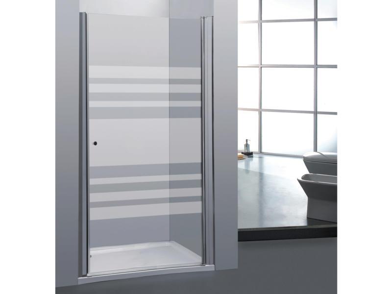 Allibert Priva porte de douche pivotante 80x190 cm sérigraphie horizontale