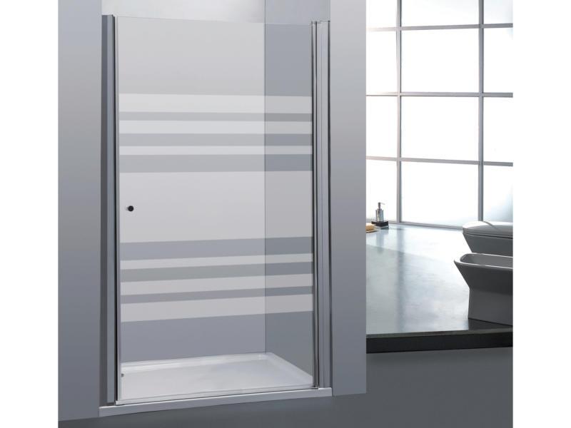 Allibert Priva porte de douche pivotante 90x190 cm sérigraphie horizontale