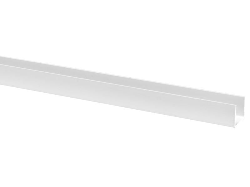 Profil en U 21x18 mm 260cm blanc