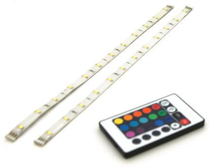 Prolight RGB LED strip 1,8W 30cm 2 stuks + afstandsbediening