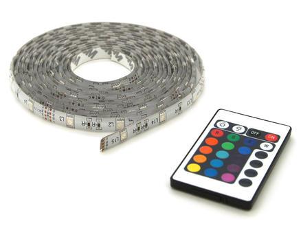 RGB LED strip 12V 5m + afstandsbediening