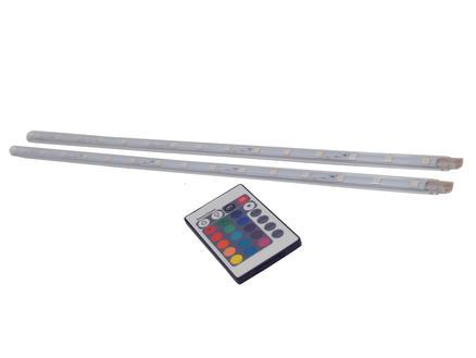 Prolight RGB LED strip 3,6W 40cm 2 stuks + afstandsbediening