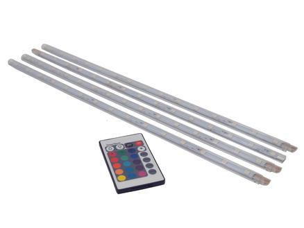 Prolight RGB LED strip 3,6W 40cm 4 stuks + afstandsbediening