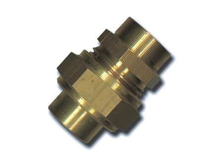 Saninstal Raccord 3 pièces 22mm laiton