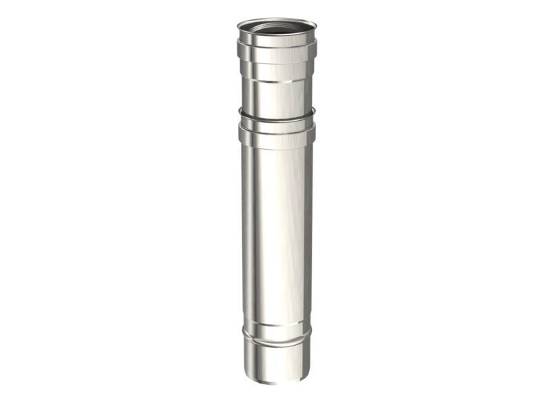 Saninstal Regelbare buis voor pelletkachel inox 316 80mm 35-55 cm