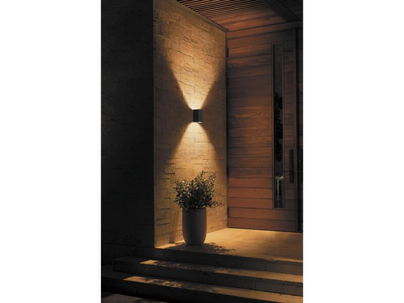 Hue Resonate White and Color Ambiance LED wandlamp 8W dimbaar zwart