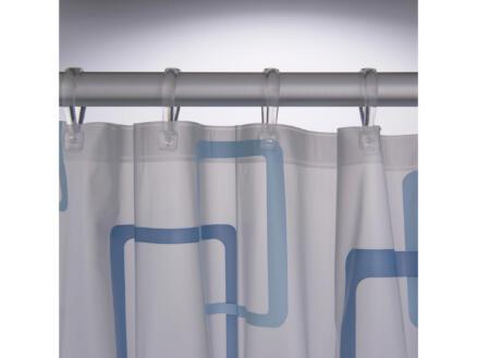 Sealskin Retro rideau de douche 180x200 cm bleu