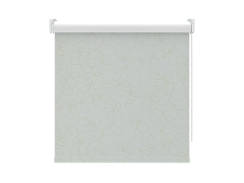 Decosol Rolgordijn verduisterend 180x190 cm wit bloem