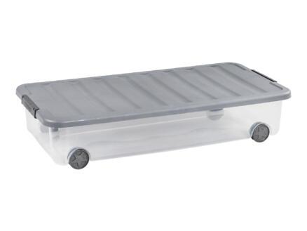 Curver Rollerbox Scotti opbergbox 35l transparant