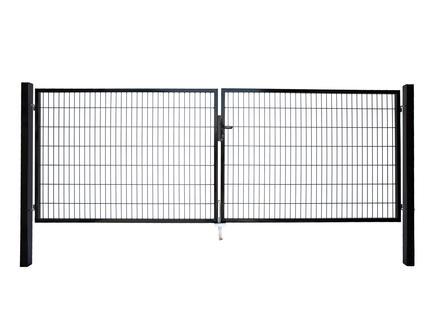 Giardino Roma Milano dubbele poort 400x120 cm zwart