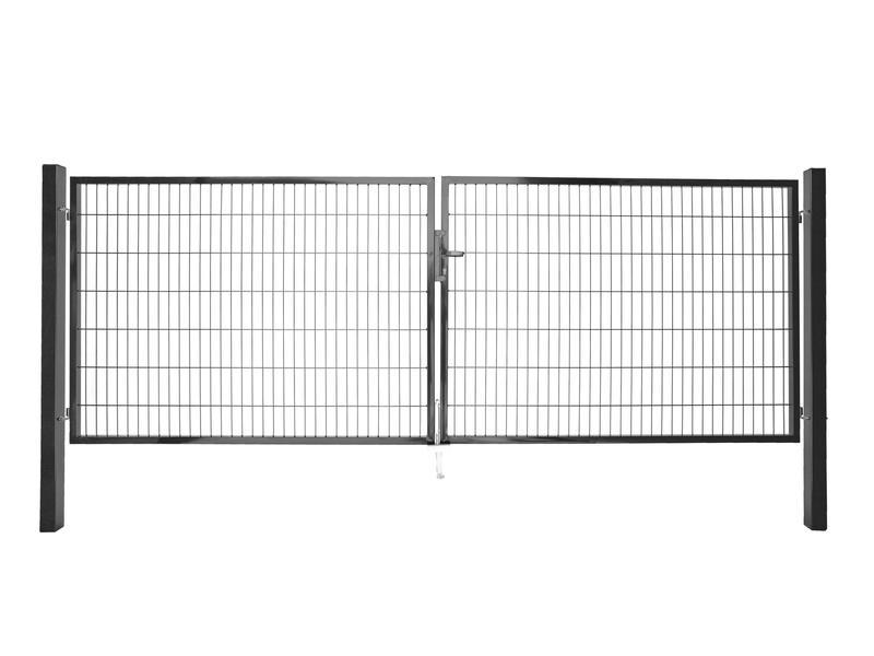 Giardino Roma Milano dubbele poort 400x140 cm antraciet