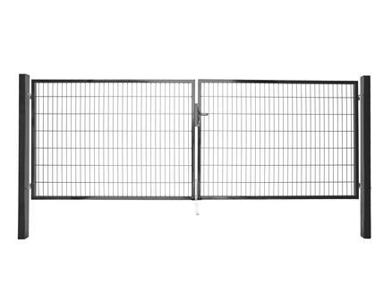 Giardino Roma Milano dubbele poort 400x160 cm antraciet