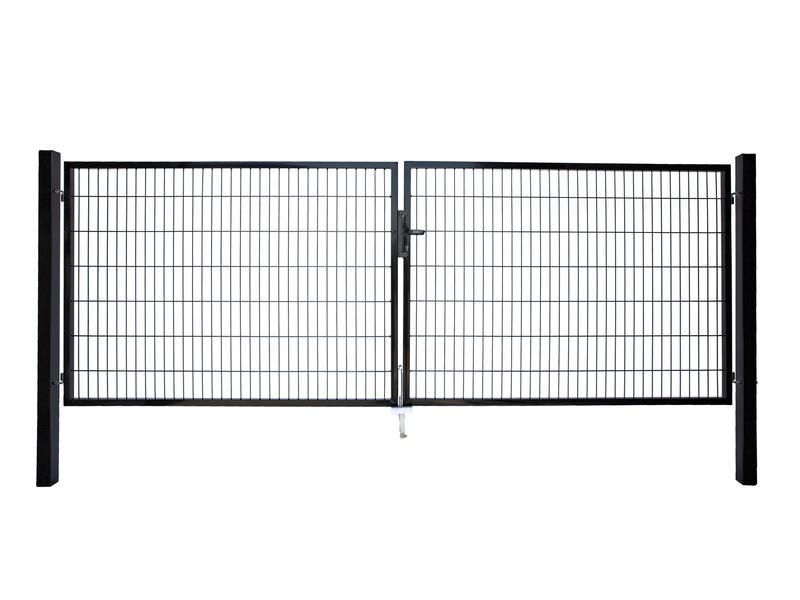 Giardino Roma Milano dubbele poort 400x160 cm zwart
