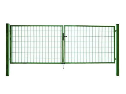 Giardino Roma Milano portillon double 400x120 cm vert