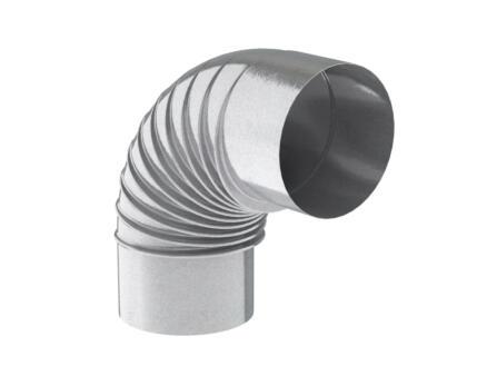 Saninstal Rookafvoer bocht verzinkt 90° 131mm