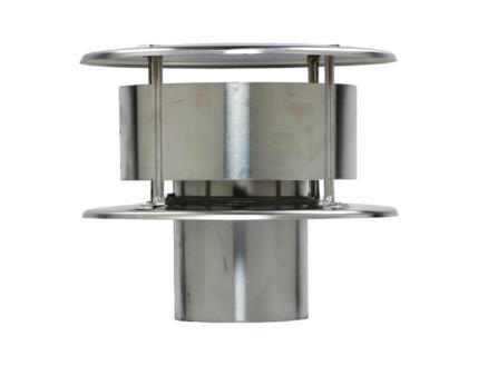 Rookgaskap 110mm aluminium