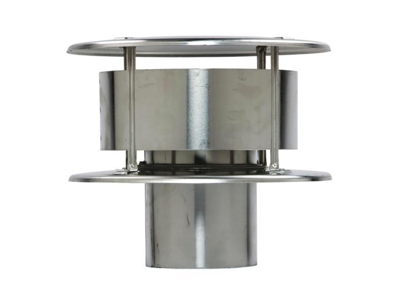 Rookgaskap 130mm aluminium