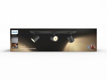 Hue Runner LED balkspot GU10 3x5,5 zwart + dimmer