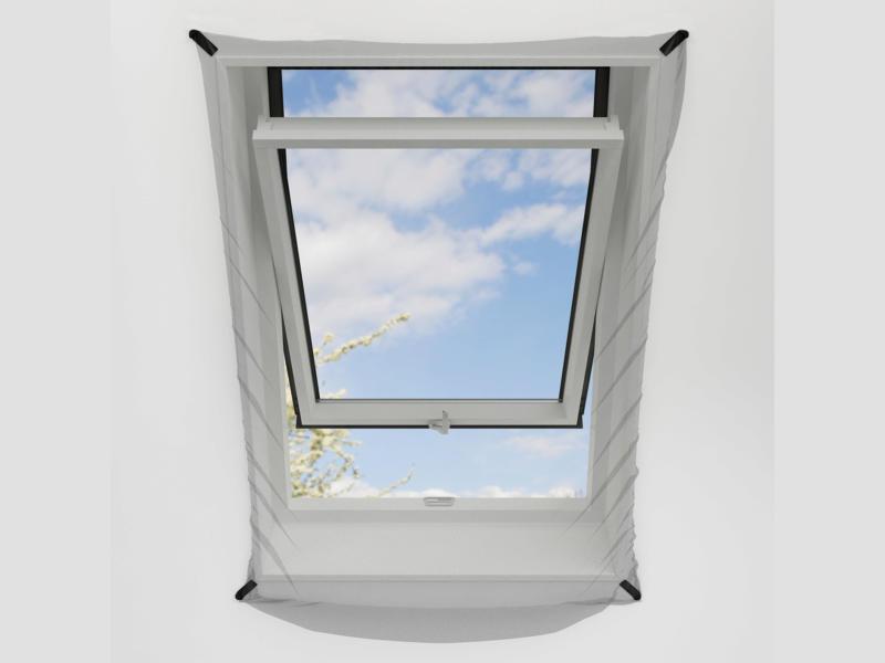 Bruynzeel S300 toile moustiquaire fenêtre de toit 120x140 cm blanc