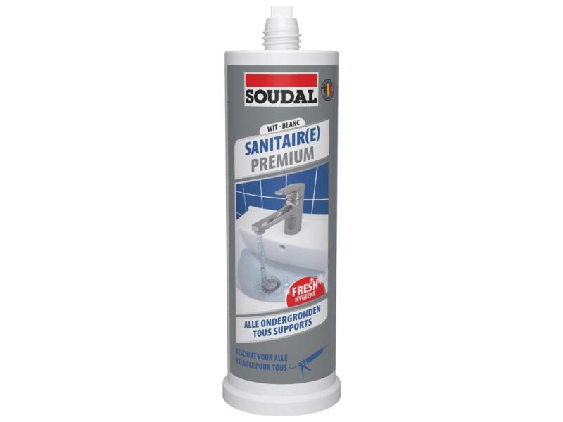 Soudal Sanitair Premium siliconenkit 145ml wit