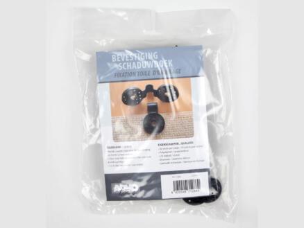 Schaduwdoek clips zwart 20 stuks
