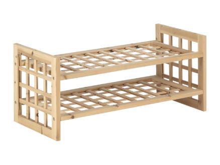 Casibel Schoenenrek 70x32x32 cm hout