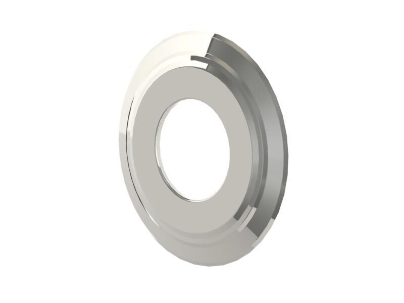 Saninstal Schouwplaat inox 80mm
