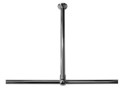 Sealskin Seallux support plafond pour barre de douche 60cm chromé