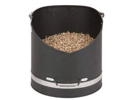 Practo Home Seau à pellets 31cm noir et chrome
