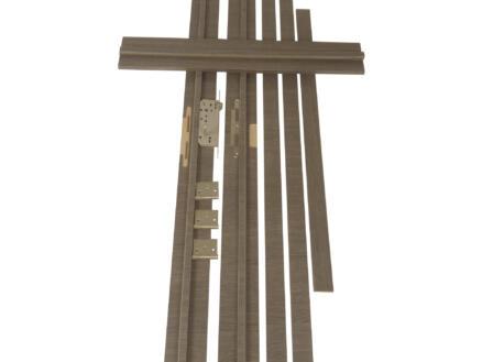 Solid Senza Classico deurkast 202,2x40 cm eik antraciet