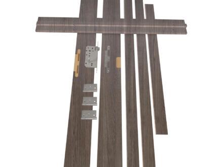 Solid Senza Classico deurkast verticaal MDF 202x40 cm antraciet