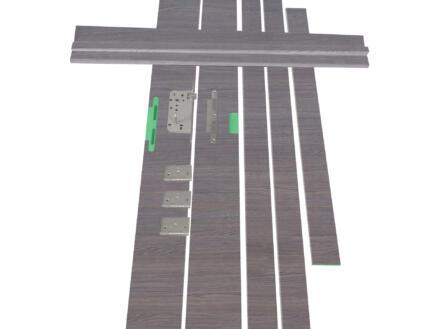 Solid Senza Classico deurkast waterwerend 202x30 cm eik grijs