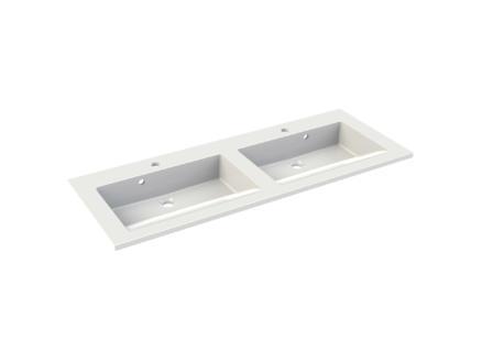 Allibert Slide lavabo double encastrable 120cm polybéton