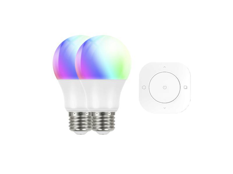 Prolight Smart Classic RGBW LED lamp E27 dimbaar 2 stuks + afstandbediening