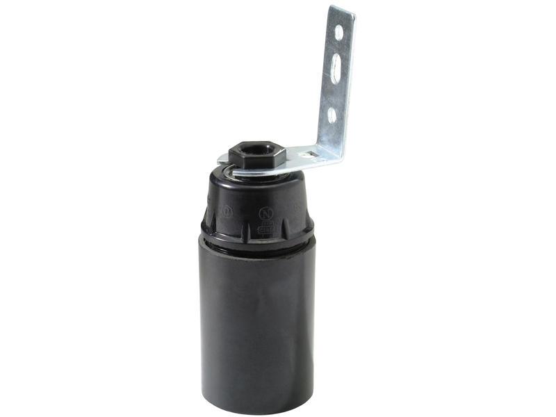 Socket E14 avec équerre noir