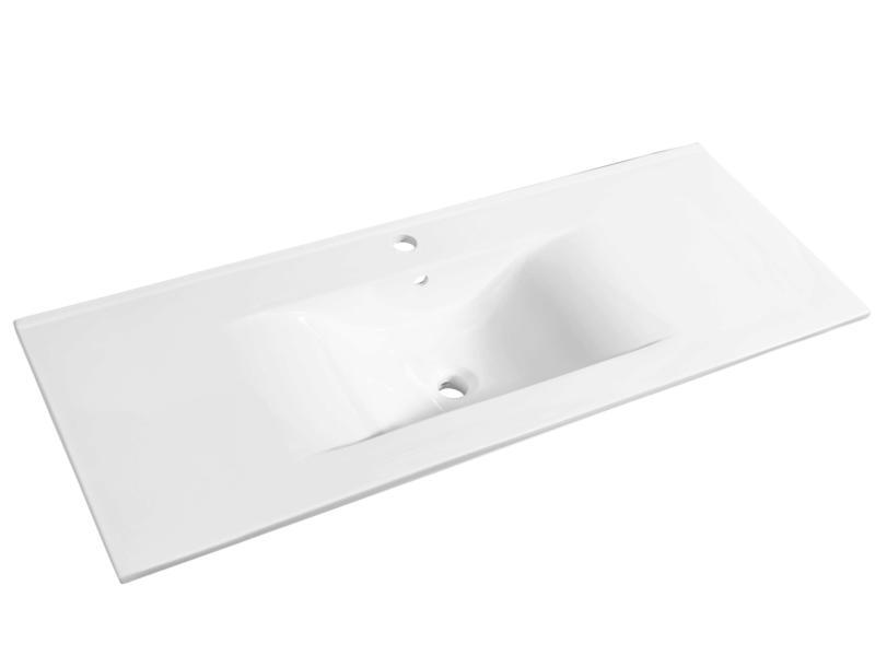 Allibert Soft lavabo encastrable 120cm céramique