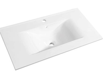 Allibert Soft lavabo encastrable 70cm porcelaine
