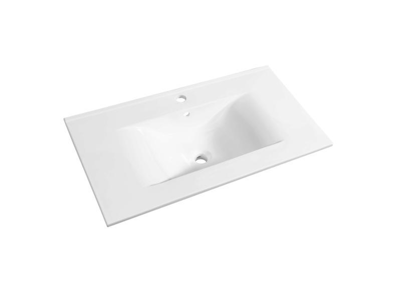Allibert Soft lavabo encastrable 80cm porcelaine