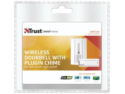 Trust Sonnette plug-in avec bouton poussoir sans fil